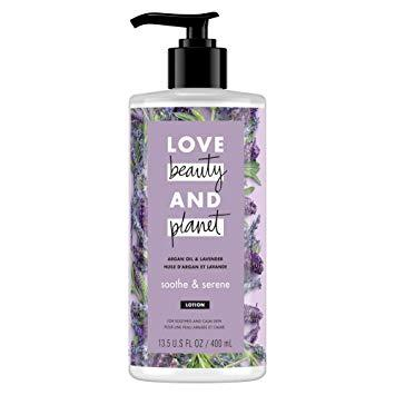 Love Beauty And Planet – LBOP Argan Oil & Lavender Body Lotion, Soothe & Serene