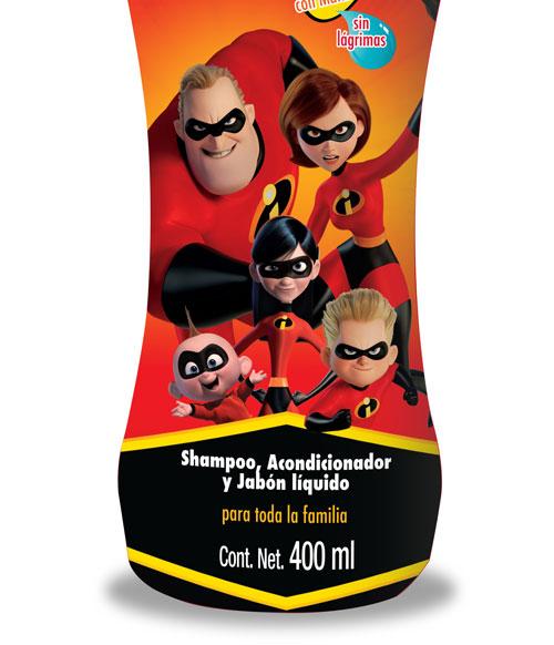 Disney – Los Increíbles 2 Shampoo, Jabón y Acondicionador 400ml