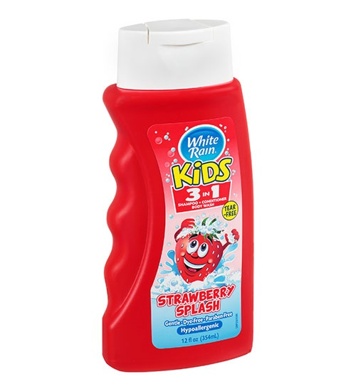 White Rain – Kids 3 in 1 Tear Free Strawberry Splash 354ml