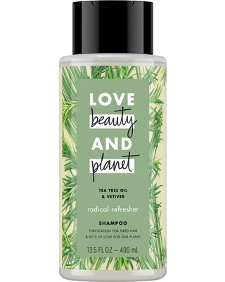 Love Beauty And Planet – LBOP Shampoo for Unisex ,Tea Tree Oil and Vetiver